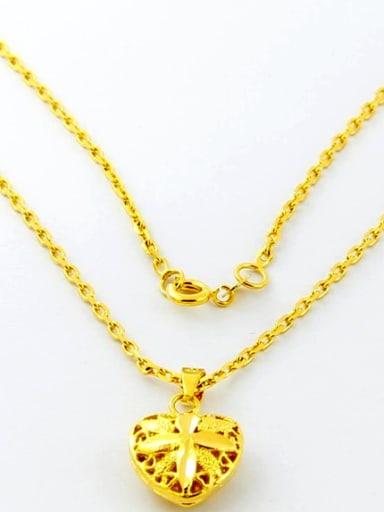 Elegant 24K Gold Plated Heart Shaped Copper Necklace