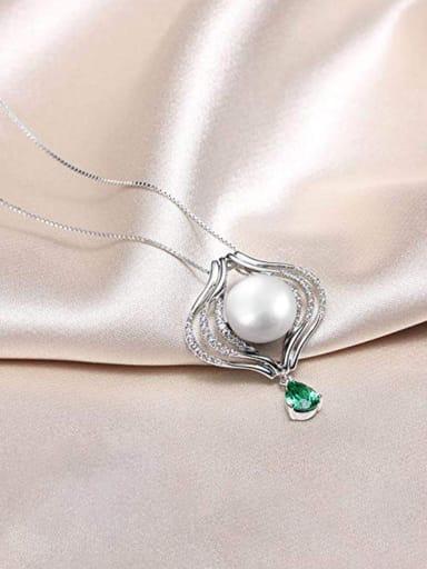 Copper With Platinum Plated Simplistic Irregular Necklaces
