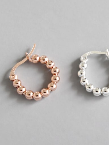 Sterling Silver simple geometric Bead Earrings