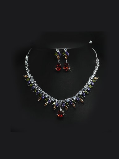 Water Drop Shaped Two Pieces Jewelry Set