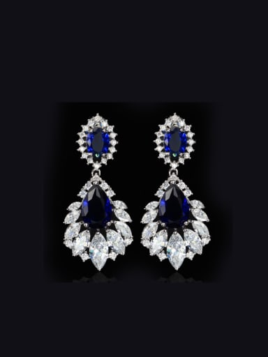 Elegant Water Drop Shaped  Cluster earring