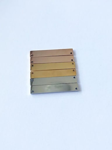 Stainless Steel With Gold Plated Simplistic Square Charms