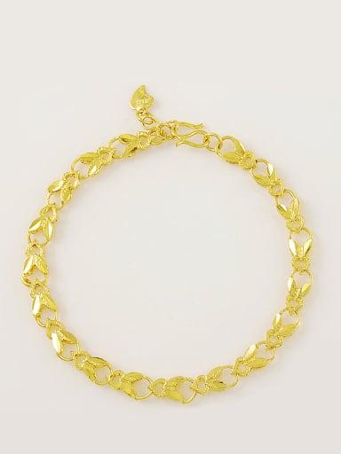 Women Trendy Heart Shaped 24K Gold Plated Bracelet