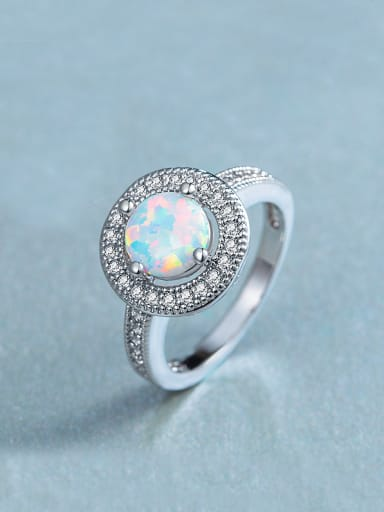 2018 Round Opal Stone Engagement Ring