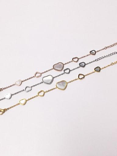 titanium steel Elegant heart shell string-type bracelet