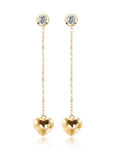 Women Creative Heart-shaped Tassel threader earring
