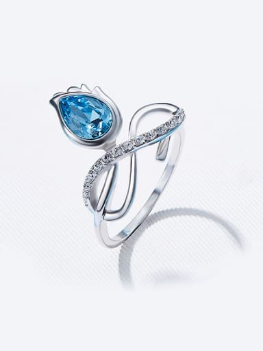 925 Silver Crystal Ring