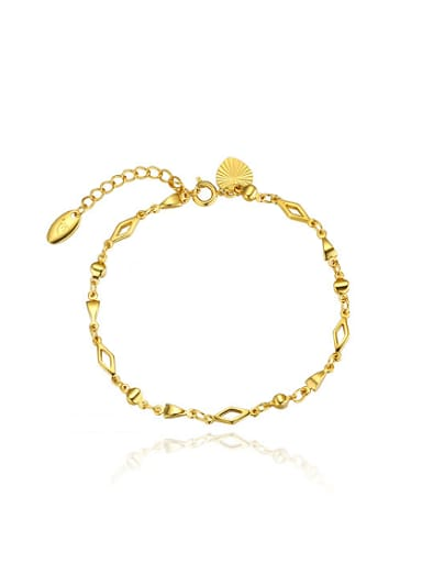 Copper Alloy 23K Gold Plated Simple style Geometry Bracelet