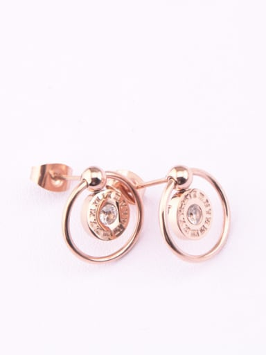 Double Circle Geometric Stud Earrings