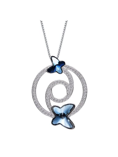 2018 S925 Silver Butterfly-shaped Necklace