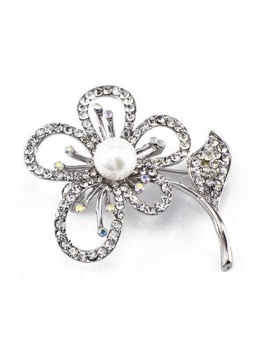 2018 Flower Pearl Brooch