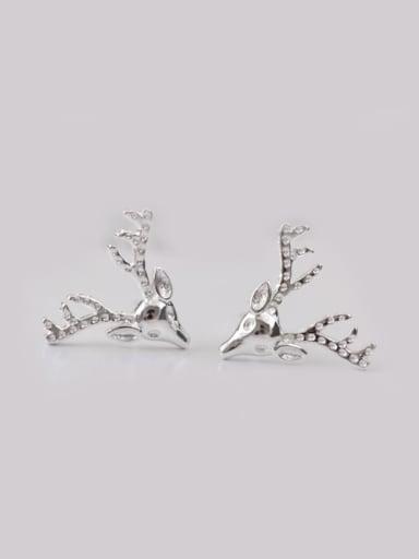 Lovely Deer Head-shape Christmas Stud cuff earring