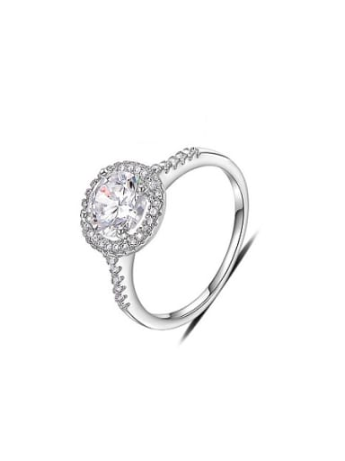 Delicate Round Shaped AAA Zircon Ring