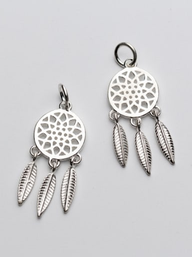 925 Sterling Silver With Antique Silver Plated Trendy Dreamnet Pendant Charms
