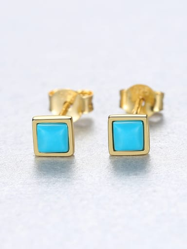 925 Sterling Silver With Simplistic Square Stud Earrings