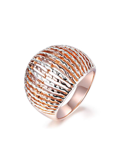 Delicate Rose Gold Plated Wave Shaped Ring