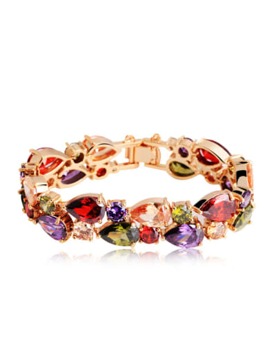 Copper With Gold Plated Fashion Water Drop Party Bracelets