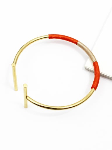 Adjustable Length Open Design Geometric Bangle