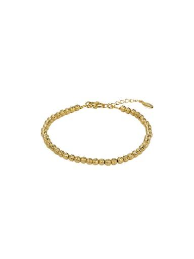 Copper Alloy 18K Gold Plated Fashion Beads Bracelet