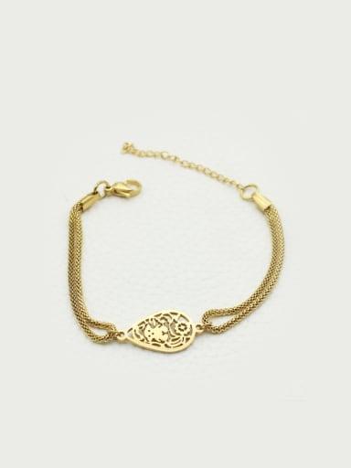Stainless Steel Smooth Women Bracelet