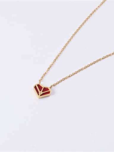 Titanium With Gold Plated Simplistic Heart Locket Necklace