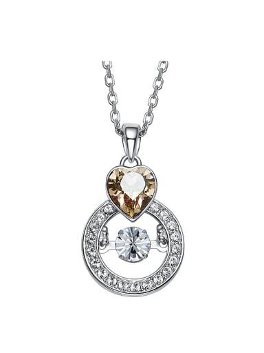 Fashion Heart Swarovski Crystal Cubic Zirconias 925 Silver Pendant