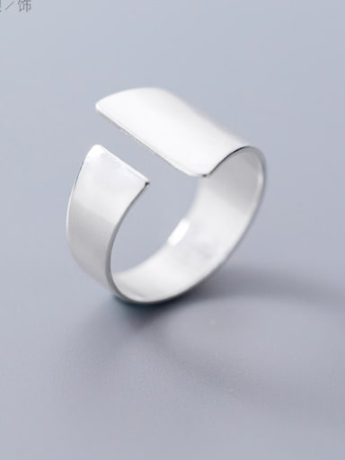 925 Sterling Silver With Silver Plated Trendy Geometric Rings