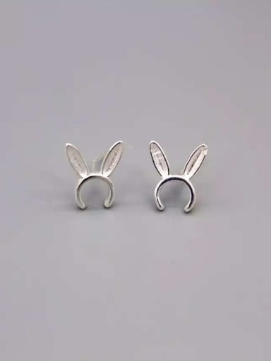 Cute Rabbit Shaped S925 Silver Women Stud Earrings