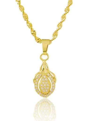 Shimmering 24K Gold Plated Rhinestone Geometric Necklace