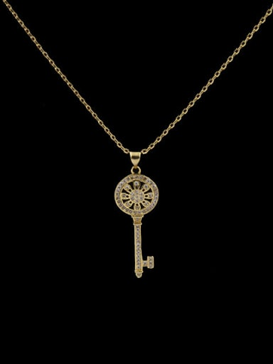 2018 Key Shaped Copper Necklace