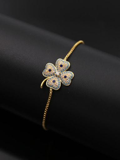 Zircon Clover Stretch Bracelet