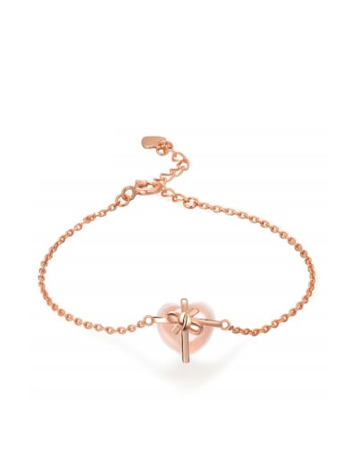 Lovely Heart-shaped Accessories Silver Bracelet
