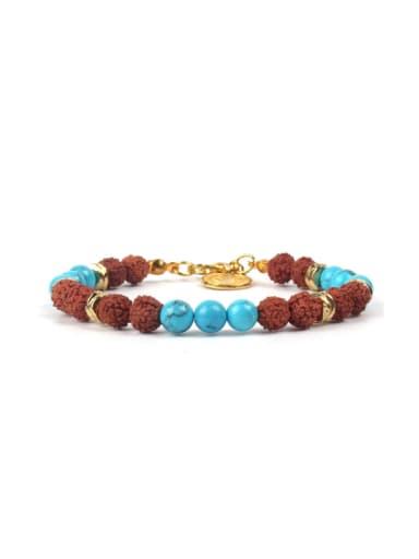 Color Natural Stones Gold Plated Bracelet
