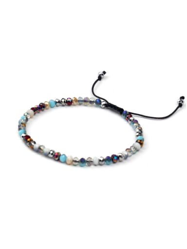 Colorful Glass Beads Woven Adjustable Bracelet