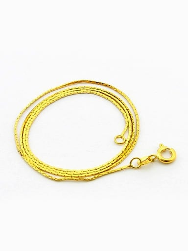 Simply Style 24K Gold Plated Geometric Shaped Copper Necklace