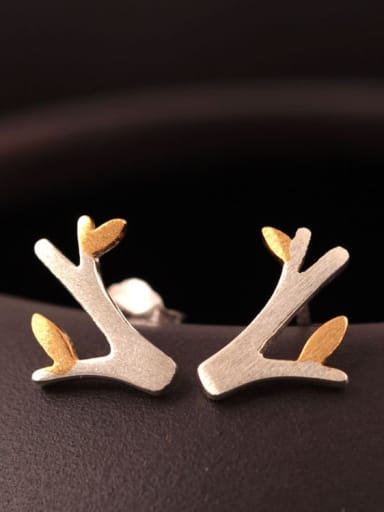 Two color Small Tree stud Earring