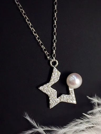 Five-pointed Star Freshwater Pearl Necklace
