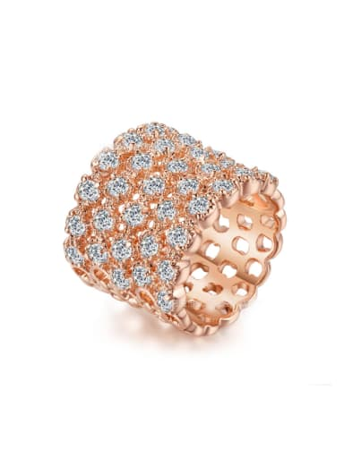 Luxury Western Rose Gold Plated with Zircons