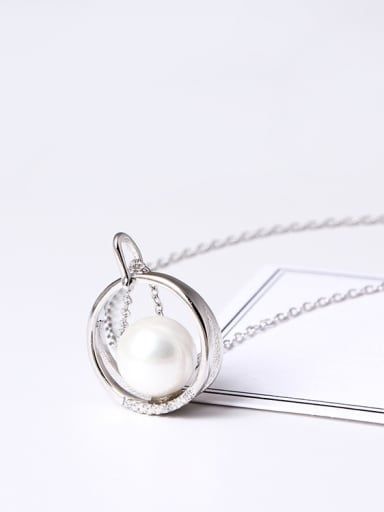 Fashion Zircon Shell Pearl Clavicle Necklace