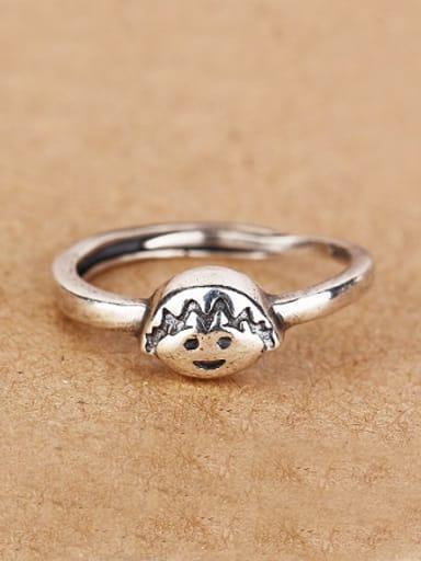 Personalized Chibi Maruko Silver Ring