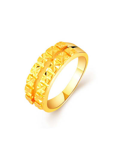 Exquisite 24K Gold Plated Double Layer Design Ring