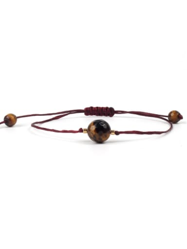 Natural Stones Woven Leather Rope Bracelet