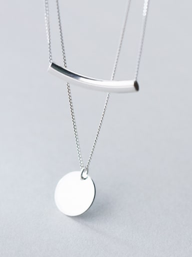 925 Sterling Silver With Platinum Plated Trendy Round Multi Strand Necklaces