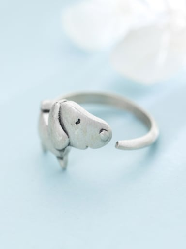 Lovely Open Design Dog Shaped S925 Silver Ring