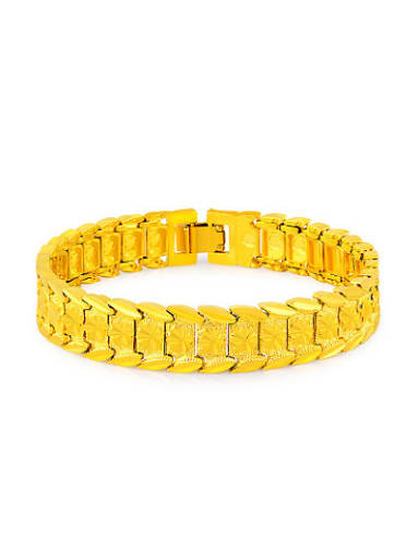Exaggerated 24K Gold Plated Geometric Design Bracelet