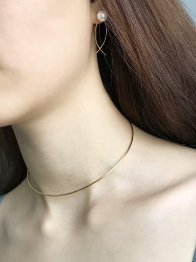 Sterling silver minimalist gold collar