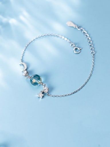 925 Sterling Silver With Platinum Plated Personality Star Bracelets