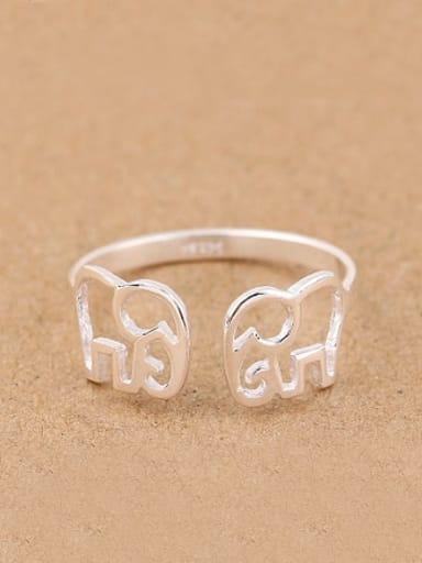 Hollow Little Elephants Opening Midi Ring