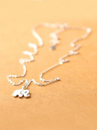 Simple Little Elephant Silver Necklace