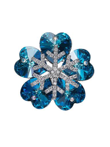 2018 2018 2018 2018 2018 2018 Flower-shaped Crystal Brooch